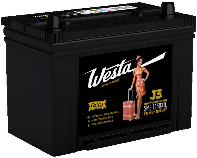 Аккумулятор Westa PRETTY POWERFUL 6СТ-95 (0) JIS SMF115 D31L J3
